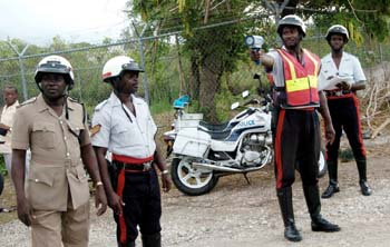 Jamaican traffic cops